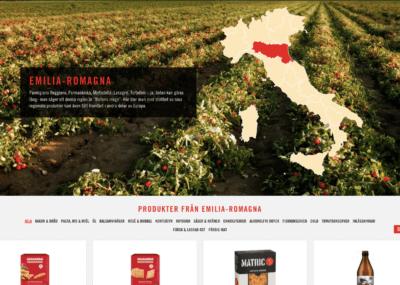Regionskarta Italien