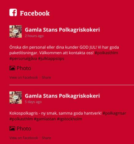 Gamla Stans Facebook-flöde