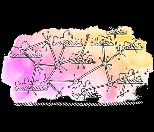 Illustration Nätverk